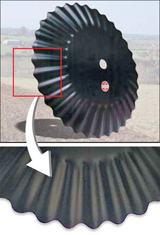 Labrador fluted tillage discs supplied by Great Western Tillage